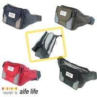 【aife life】運動、生意型男必備腰包,超大容量五層夾層!多種沉穩色彩,自行車小摺戶外休閒必備肩包、腰包、臀包!更是做生意的最佳幫手!!