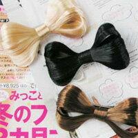 【aife life】時尚日系蝴蝶結假髮髮夾(黑/棕/金色/咖啡),變換造型超便利,可愛造型大加分!!