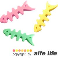 【aife life】日韓發燒熱賣,魚骨頭集線器/捲線器/繞線器/集線棒,耳機線、USB線、聽MP3都可以使用!