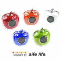 【aife life】日劇廣告中常看到的蘋果造型LED電子鐘,有中文發音會報時報溫度喔!!