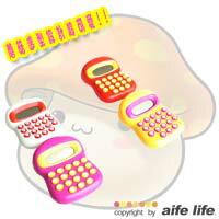 【aife life】韓系卡哇伊蘑菇計算機,鍵盤上有蘑菇印花,8位元特殊數字設計!可愛又實用文具,三款可愛色彩
