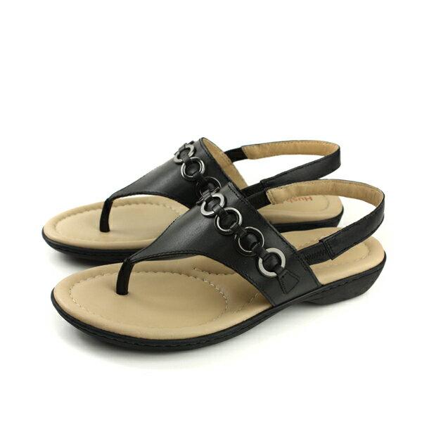 HushPuppies夾腳涼鞋黑色女鞋6182W126101no102