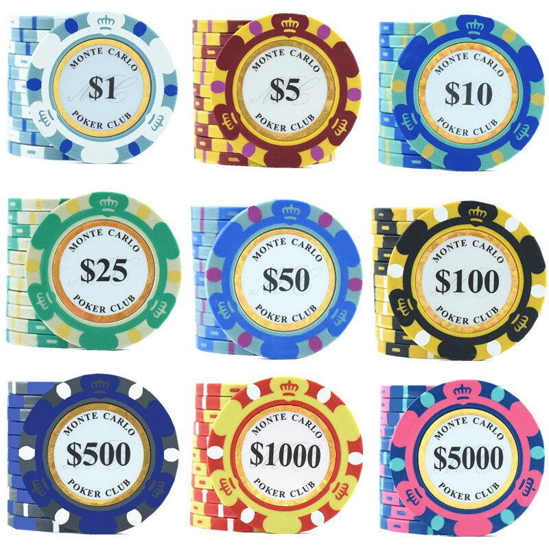 TEXAS HOLD'M CASINO 專業優質德州撲克麻將籌碼百家樂籌碼8002款