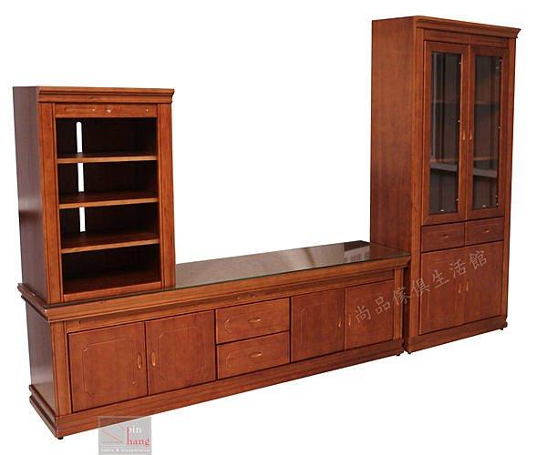 【尚品傢俱】702-37 普派 實木高低櫃/客廳收納櫃組/居家展示櫃組/家庭電器櫃組