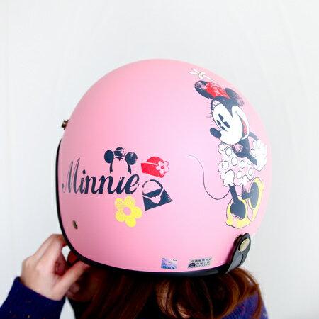 正版迪士尼復古全罩安全帽 米奇米妮 機車安全帽 四分之三 騎士帽 台灣製 霧面 CA-309【N201300】