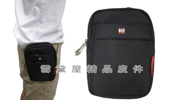 ~雪黛屋~SPYWALK腰包5吋手機適用二層主袋外掛式腰包工具包隨身物品型男必備腰包防水尼龍布SD7253