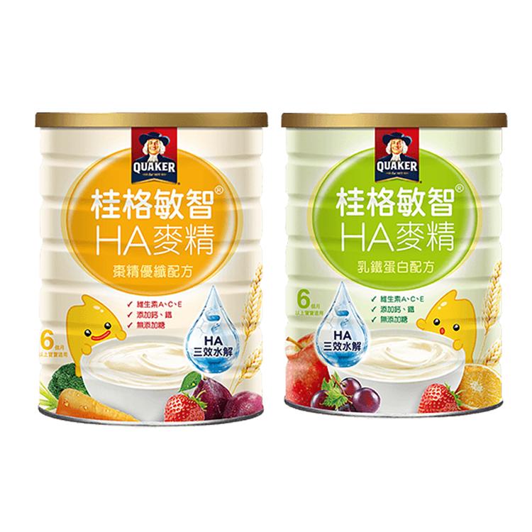 桂格 敏智HA麥精 棗精優纖配方 乳鐵蛋白配方 700g/罐