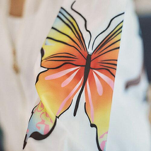 外套 - 超薄透膚蝴蝶造型防曬防風外套【29122】藍色巴黎-現貨+預購 2
