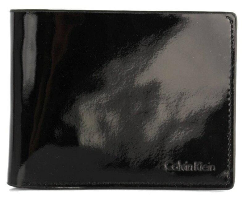 【瞎買天堂x現貨免運】CALVIN KLEIN CK 獨特真皮亮面短夾 皮夾 錢包 6卡位 79492【CBCK0101】