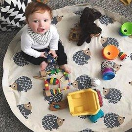 <br/><br/>  【淘氣寶寶】加拿大 3 Sprouts 玩具收納袋-刺蝟【玩具收納與遊戲墊2in1】【保證公司貨】<br/><br/>