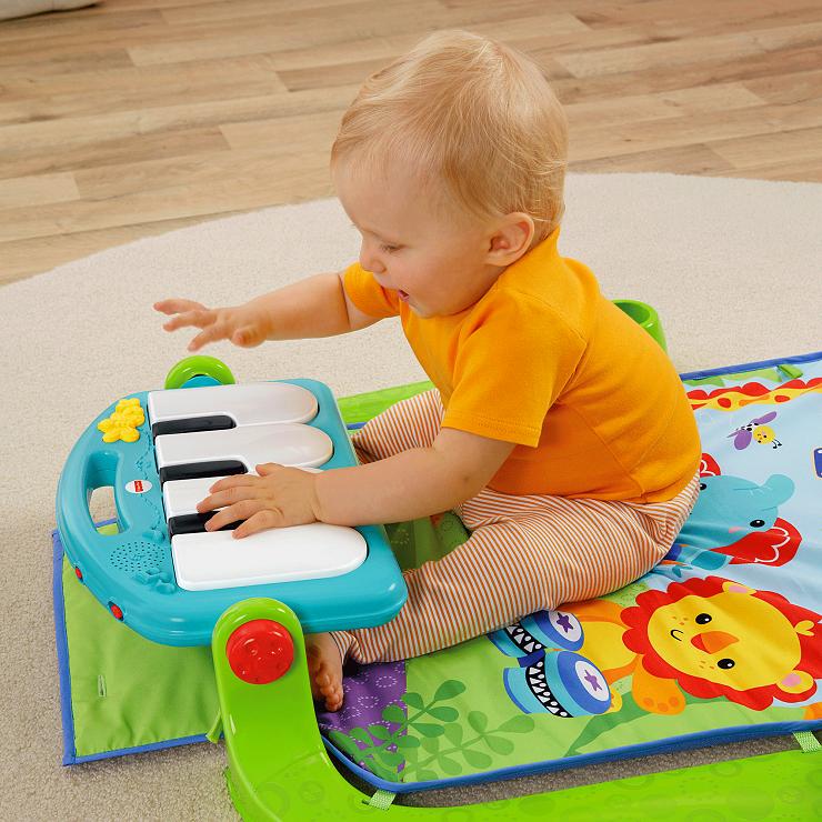 『121婦嬰用品館』費雪 可愛動物小鋼琴健身器 3