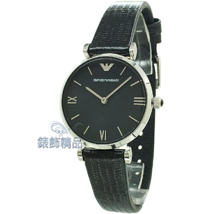 【錶飾精品】ARMANI手錶 亞曼尼 AR1678 低調奢華 薄型 珍珠貝面 黑皮帶女錶 全新原廠正品 生日 禮物