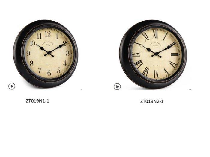 14寸黑色描金框,鐵藝掛鐘