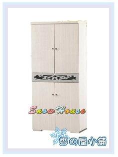 ╭☆雪之屋居家生活館☆╯P655-04白橡2.5X6尺銀圖騰鞋櫃(136W)置物櫃鞋架拖鞋架置物架