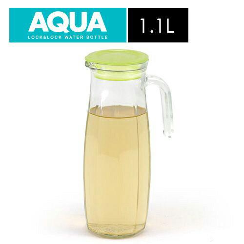 樂扣樂扣 沁涼玻璃冷水壺-橄欖綠色(1.1L)【愛買】