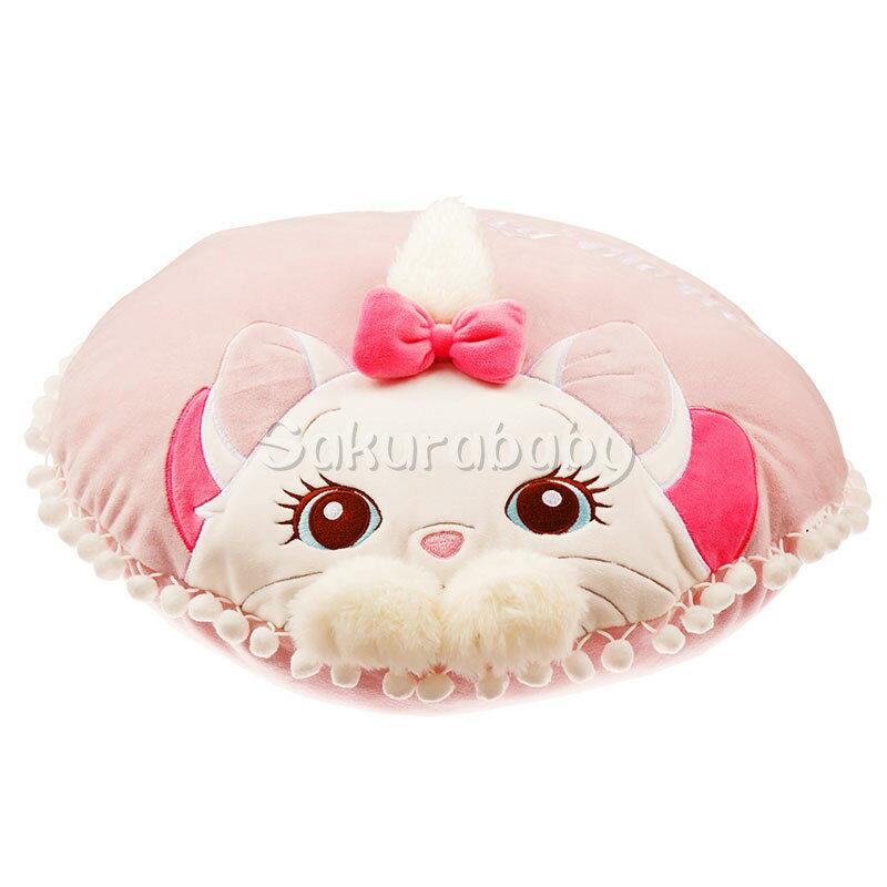 迪士尼 瑪莉貓 貓咪 靠枕 枕頭 抱枕 玩偶  粉紅色蝴蝶結 貓兒歷險記 _ 櫻花寶寶