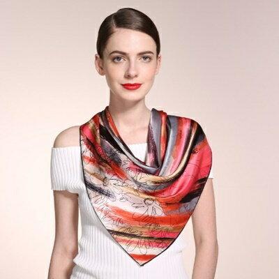 絲巾桑蠶絲圍巾-古典優雅潑墨設計女配件4色73hx12【獨家進口】【米蘭精品】