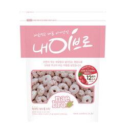 韓國 NAEBRO 西印度櫻桃圈圈點心40g(12個月以上適用) (韓國進口)寶寶餅乾/幼兒餅乾/圈圈餅乾/米餅