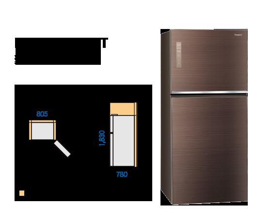 Panasonic國際牌 650公升 玻璃雙門 變頻冰箱 NR-B659TG-N 2