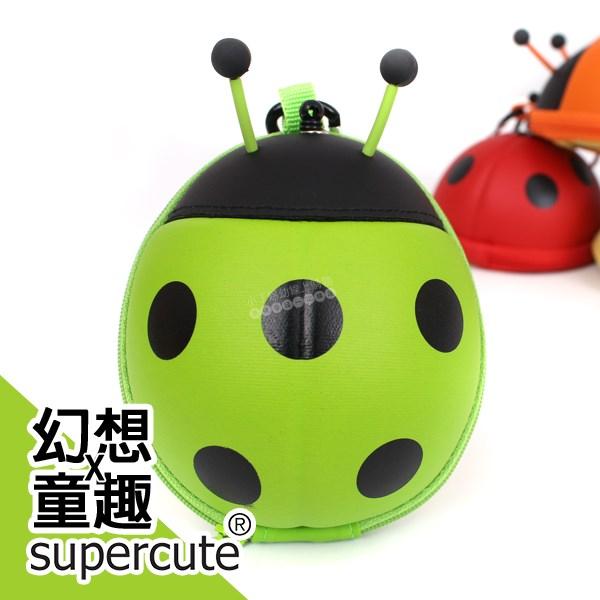 瓢蟲卡包零錢包-綠/鑰匙包/奶嘴收納包/零錢包/耳機收納包 supercute R-SF031-G0