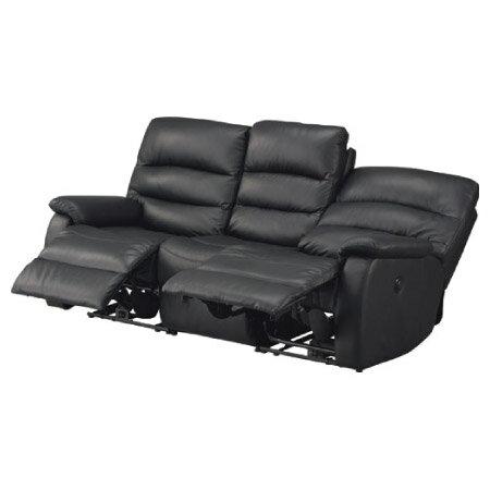 ◎全皮3人用頂級電動可躺沙發 BELIEVER2 BK NITORI宜得利家居 1