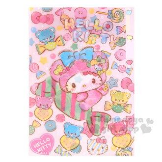〔小禮堂〕Hello Kitty 迷你L型分類文件夾《粉.糖果.小熊裝.星星》共3層