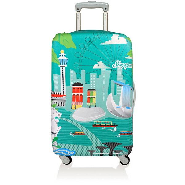 【騷包館】LOQI 德國品牌 時尚高防護防塵行李箱套(中)==新加坡 LO-LMURSI