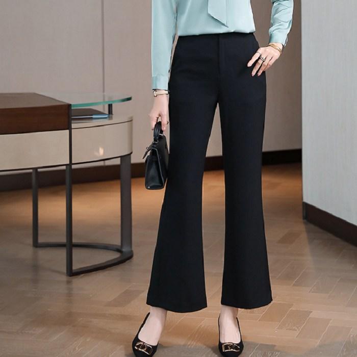 黑色修身喇叭長褲 [21S029-PF]灰姑娘