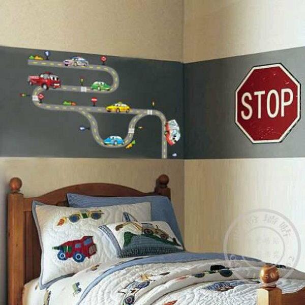 BO雜貨【YV0679】DIY時尚裝飾組合可移動壁貼 牆貼 壁貼 創意壁貼 軌道車TC2085