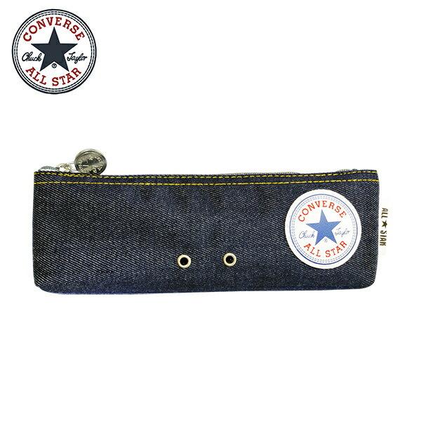 牛仔藍款【日本正版】CONVERSE 扁筆袋 鉛筆盒 筆袋 ALL STAR - 171722