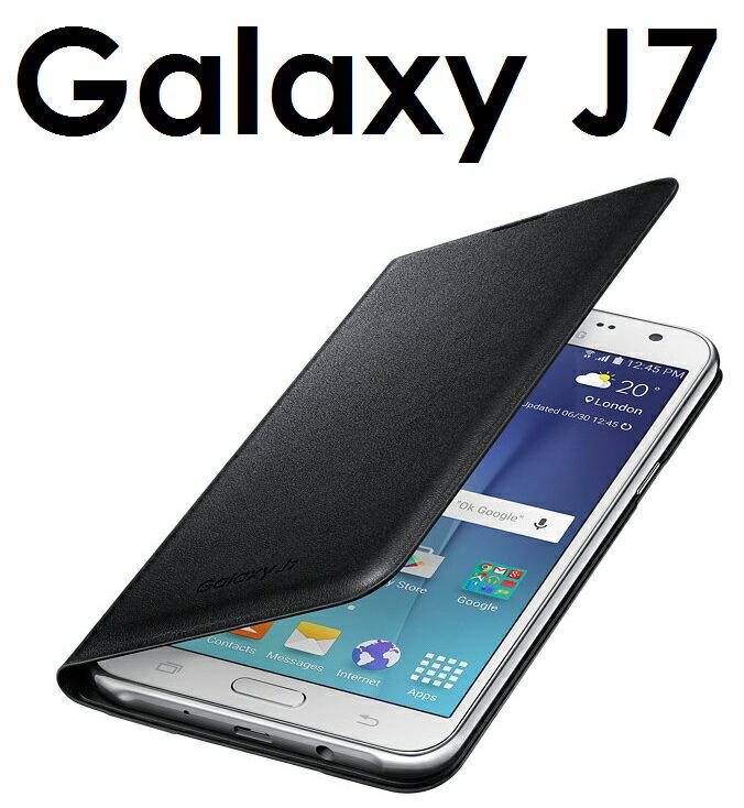 【原廠吊卡盒裝】三星 Samsung Galaxy J7 (J700) 原廠側翻皮套 保護套