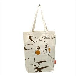 日貨 皮卡丘帆布購物袋 手提袋 環保袋 口袋怪獸  正版授權J01180187