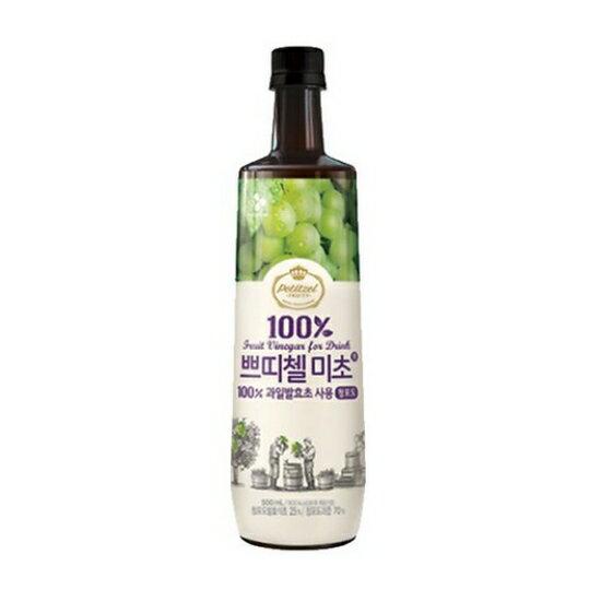 有樂町進口食品 韓國人氣水果醋 CJ水果醋500ml 青葡萄醋 8801007333038 - 限時優惠好康折扣