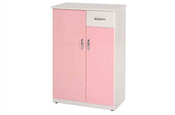 石川家居:【石川家居】850-04(粉紅白色)鞋櫃(CT-302)#訂製預購款式#環保塑鋼P無毒防霉易清潔