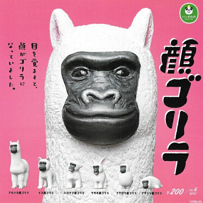 全套6款【日本正版】猩猩臉動物大集合 扭蛋 轉蛋 猩猩臉 擺飾 熊貓之穴 - 854583 - 限時優惠好康折扣