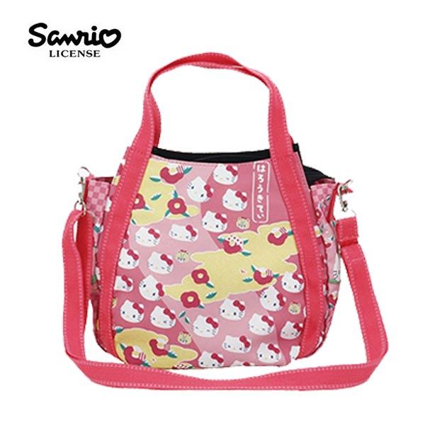 4577【日本正版】凱蒂貓xMANUFATTO兩用斜背包側背包手提袋HelloKitty三麗鷗-128768