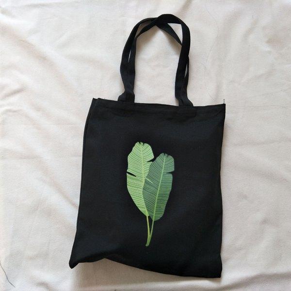 帆布袋印花收納手提側肩包環保購物袋--手提單肩拉鍊【DE8445544】BOBI0322