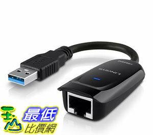 [107美國直購] Linksys USB 3.0 Ethernet Adapter,Works with MacBook Air, Chromebook,or Ultrabook (USB3GIG)