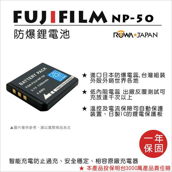 攝彩@樂華FORFujiNP-50相機電池鋰電池防爆原廠充電器可充保固一年
