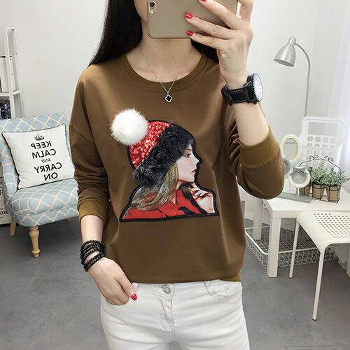 繡花衛衣T恤(3色M~4XL)【OREAD】 1