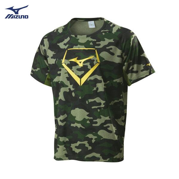 12TC8L0138(綠迷彩)棒壘短袖T恤【美津濃MIZUNO】