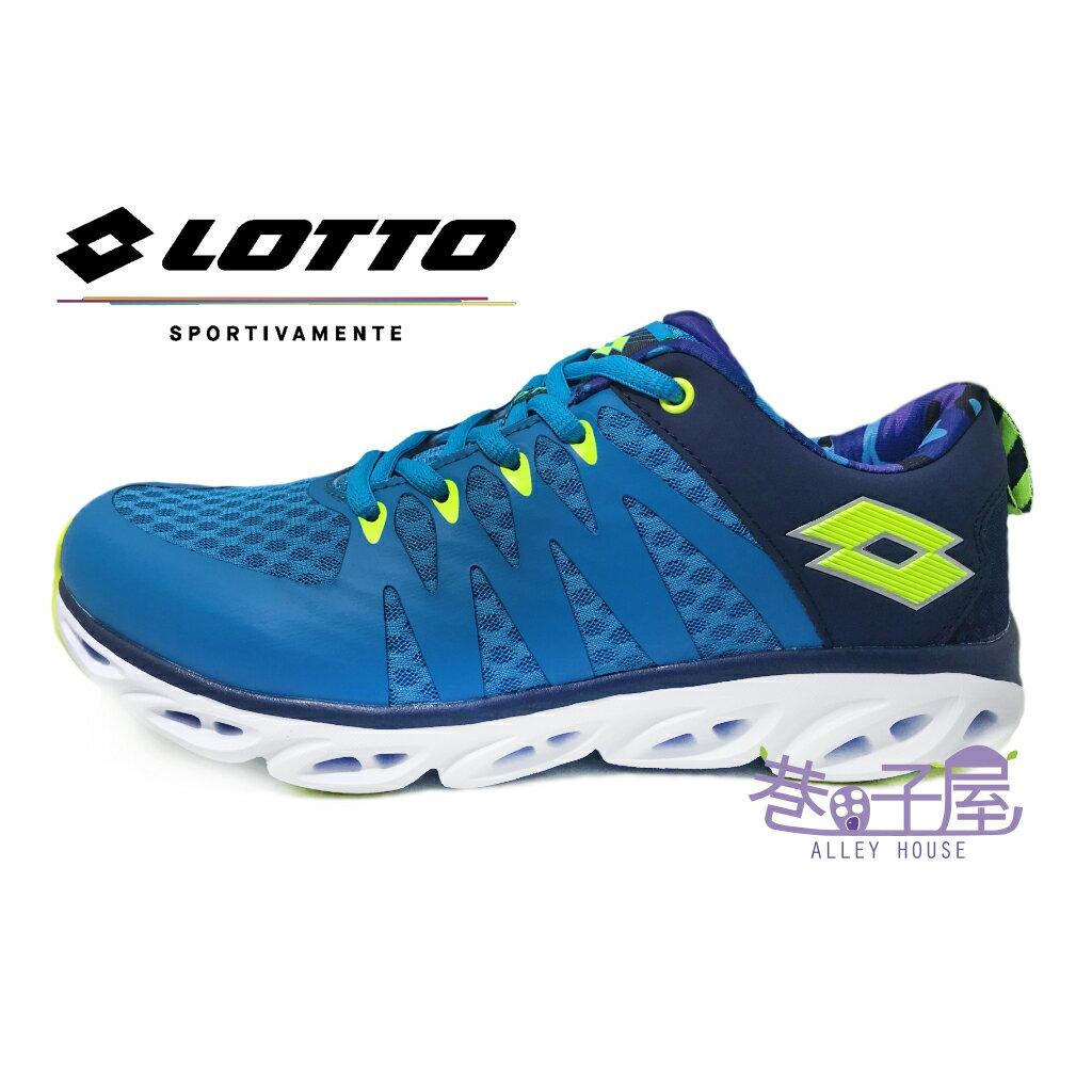 【巷子屋】義大利第一品牌-LOTTO樂得 VENTI 男款無車縫風動輕量跑鞋 [3386] 藍 超值價$690