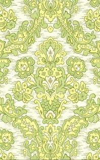 壁紙屋本舖:綠色大馬士革純進口復古壁紙WD-199