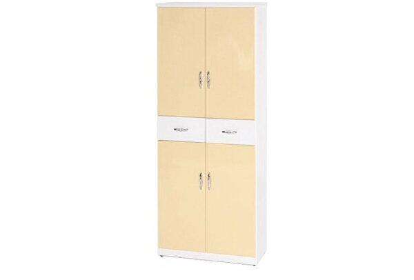 【石川家居】896-01(鵝黃白色)鞋櫃(CT-333)#訂製預購款式#環保塑鋼P無毒防霉易清潔