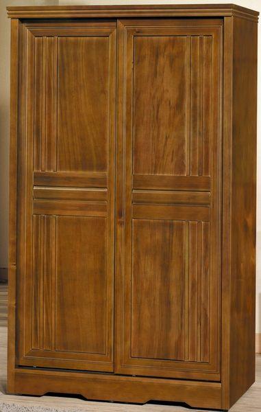 【石川家居】EF-26-8 楓芝林樟木4*7尺推門實木衣櫃 (不含其他商品) 需搭配車趟