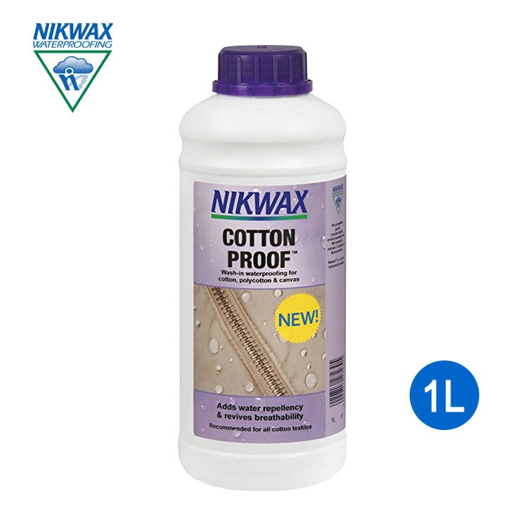 NIKWAX 棉質撥水劑 2H3 補充瓶《1L》 /  Cotton Proof  /  增加撥水性以及恢復透氣性  /  英國原裝進口 - 限時優惠好康折扣