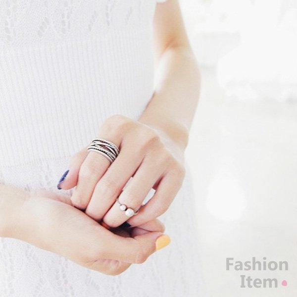 歐美復古風食指關節兩件套戒指L100603【櫻桃飾品】【24500】