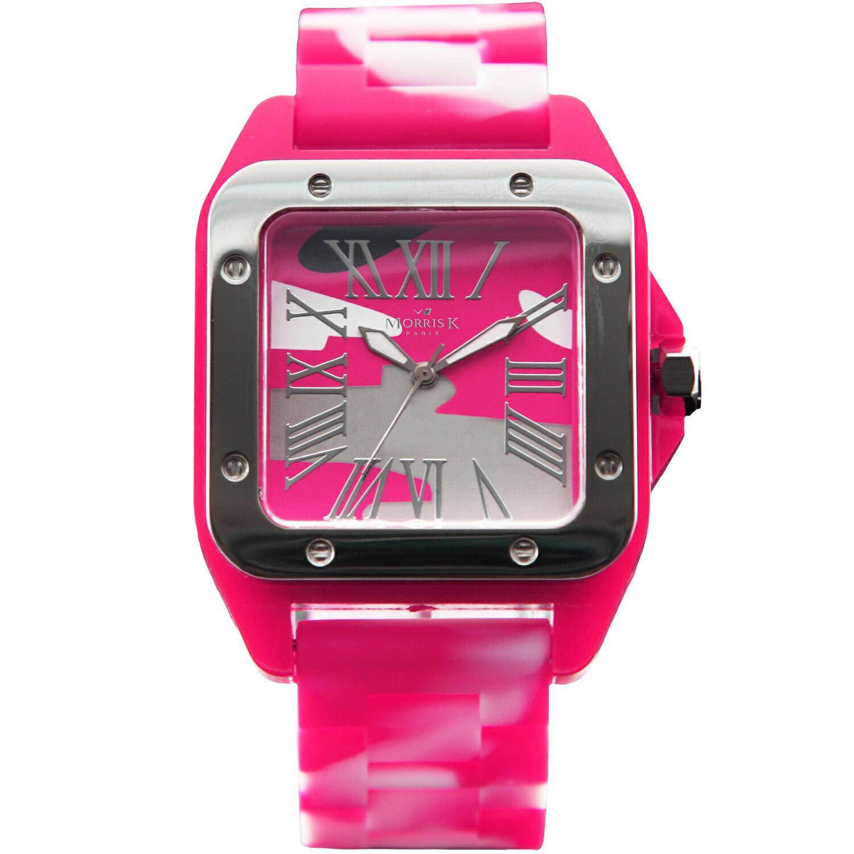 【Morris K】羅志祥代言 舞極限方型休閒潮流腕錶 迷彩 38mm-MK13015-SV05