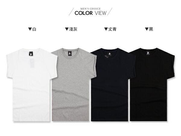 ☆BOY-2☆【KKL3018】韓版反摺棉質短T恤 1