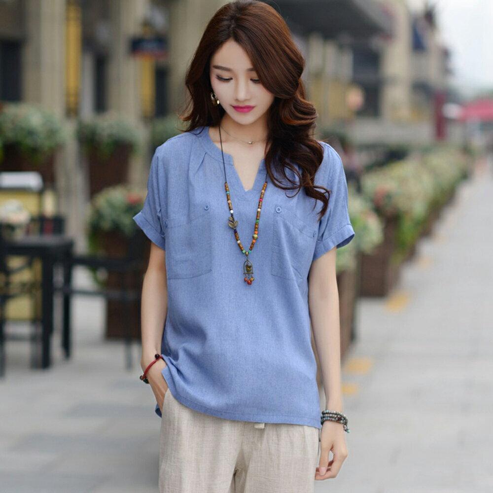 休閒襯衫上衣(3色M~3XL)【OREAD】 4